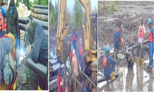 STEEL SHEET PILES AND JETTY WORKS